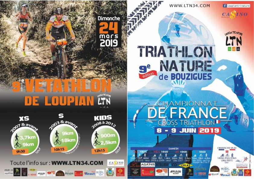 Challenge Loupian Tri Nature ( Vétathlon + Triath